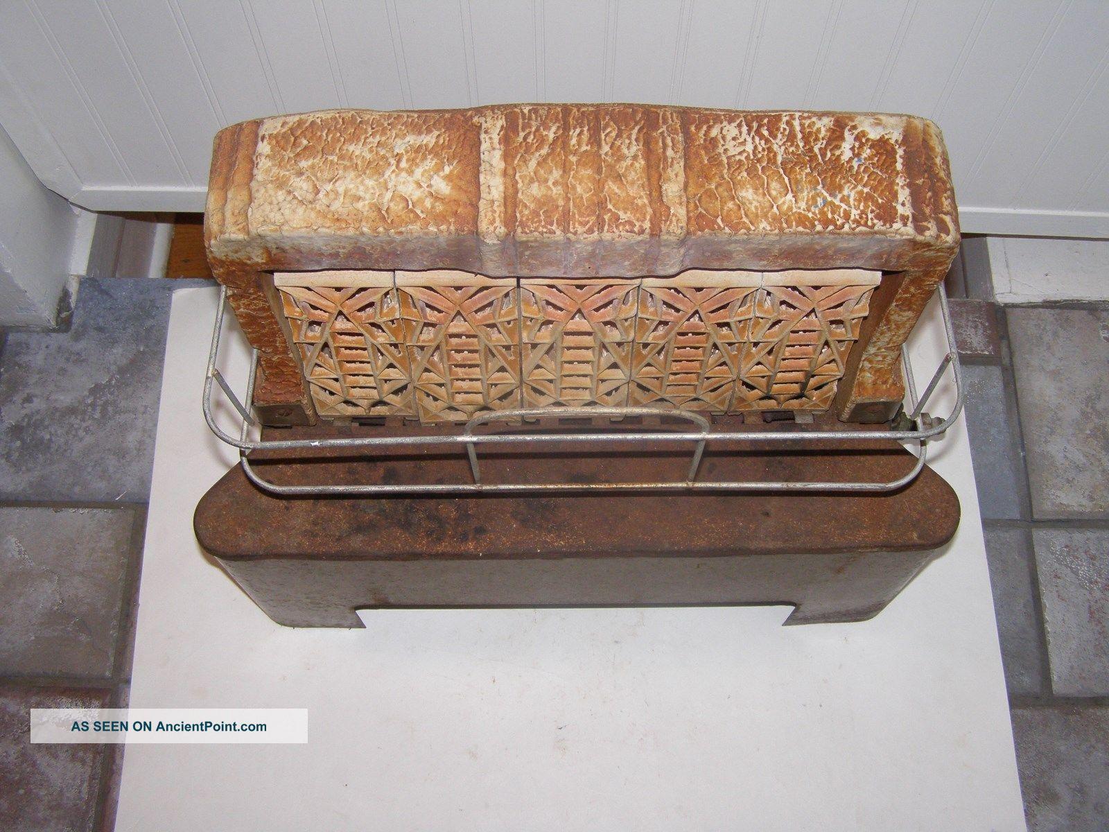 Vintage Imperial Natural Gas Radiant Heater Ceramic Grates