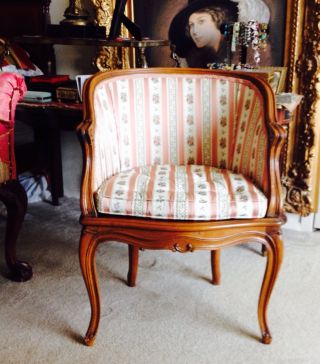 French Provincial Boudoir Chair photo