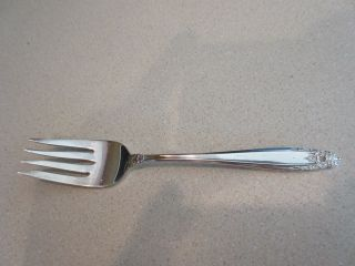 International Sterling Prelude Pattern Salad Fork photo