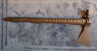 1840 Apsaalooke Indian Pipe Tomahawk Tack Haft Hot File Brand Iron Head photo
