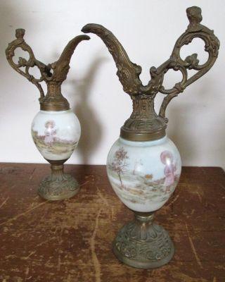 Pr Antique Victorian Mantel Ewer,  Urn,  Pitcher,  Lucie,  Author Beatrix Potter photo