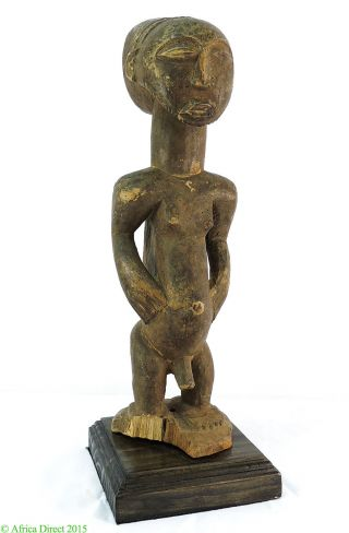 Hemba Ancestor Male Memorial Figure Congo African Stand photo