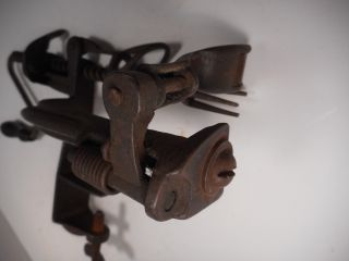 Antique Early Model Horizontal Slicer / Corer / Blade Apple Peeler Parer Rare photo