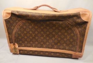 Vintage 1970 ' S Authentic French Co Louis Vuitton Suitcase 20 1/2