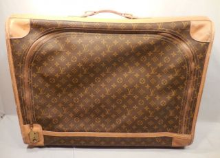 Vintage 1970 ' S Authentic French Co Louis Vuitton Suitcase 26