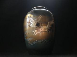 Japanese Vintage Aluminum Vase - Takaoka Doki Brand Products - 2 photo