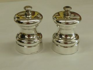 Mappin & Webb Silver Plated Salt & Pepper Grinder Or Cruets photo