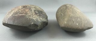 Old Aboriginal Stone Axe Heads photo