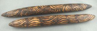 Vintage Aboriginal Pokerwork Clapping Sticks photo