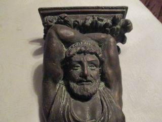Vintage 3 Foot Composite Greek Roman Wall Sconce Heavy Ready2 Hang Magnificent photo