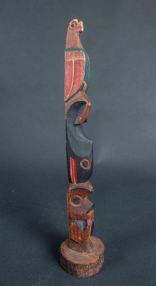 Fine Vintage Northwest Coast Totem Pole photo