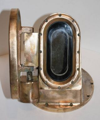 Submarine Periscope,  Bronze,  Brass,  Actual Periscope Head photo
