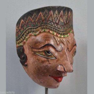 Indonesien Javanese Jawa Wayang Topeng Mask Maschera Vintage Ethnic Pt82 photo