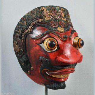 Indonesia Javanese Jawa Wayang Topeng Mask Maschera Wooden Carved Pt88 photo