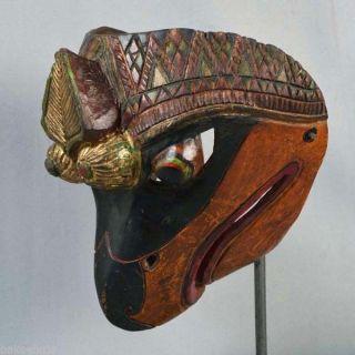 Indonesien Javanese Jawa Wayang Topeng Mask Maschera Wooden Carved Pt90 photo