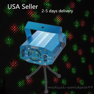 2 - 5d Us Laser Lighting Show Projector Red&green Dj Disco Lamp Xmas Party,  Tripod photo
