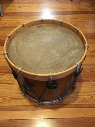 Hall And Quinby Antique Military Wooden Field Drum photo