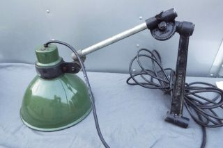 Vintage Industrial Woodward Machine Co.  Detroit Articulated Sconce Machine Lamp photo
