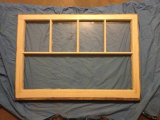 Vintage 5 Pane Distressed Wood Window Sash Old Shabby Chic Antique Pinterest photo