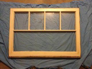 Vintage 5 Pane Distressed Wood Window Sash Old Shabby Chic Antique Pinterest photo