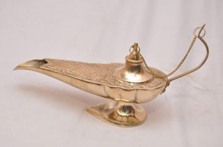 Exquisite Top Grade Collectible Quality Brass Aladdin Magic Genie Lamp - Ci015 photo