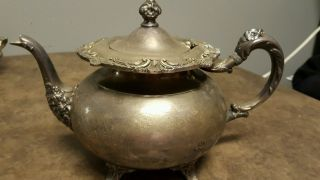 Community Silverplate Ascot Sheffield Reproduction Teapot Fancy photo