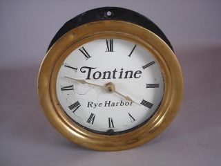 Tontine Rye Harbor Ships Bell Porthole /nautical Clock photo