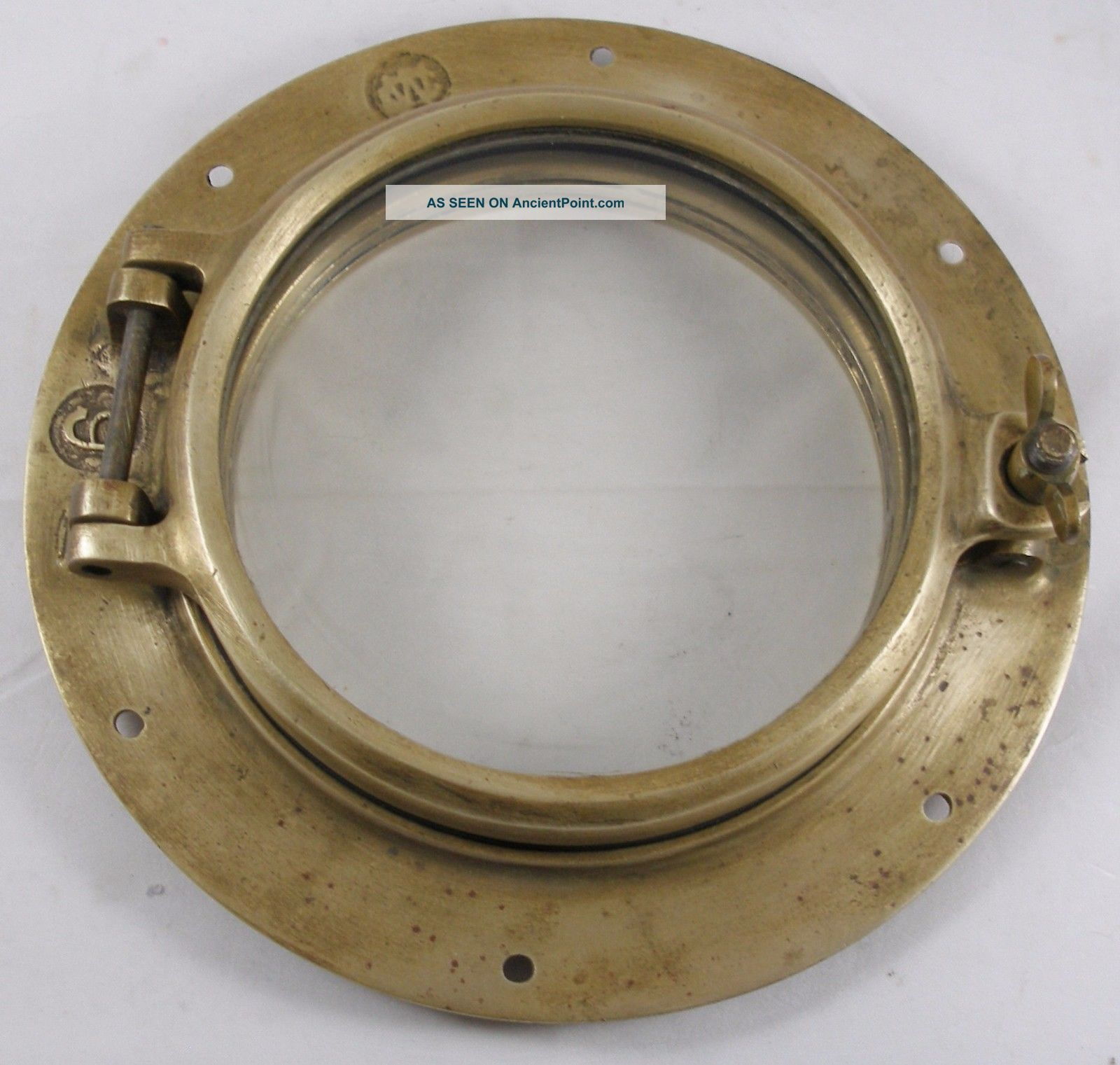 Antique Bronze Porthole,  Salvaged Porthole Nautical Wc 6 Porthole Portholes photo