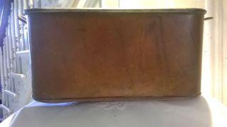 Antique Copper Oblong Rectangular Deep Pan Pot C.  R.  Ruegger Inc. photo