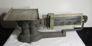 Antique Howe Postal Scale Cast Iron And Brass Large Size photo