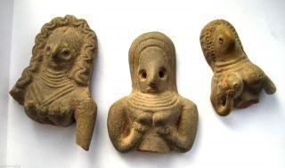 C.  2500 B.  C Bronze Age Harappan Culture Mother Goddess Terracotta Statue Idols photo