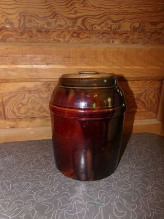 Antique Peoria Pottery Canning Preserving Crock photo