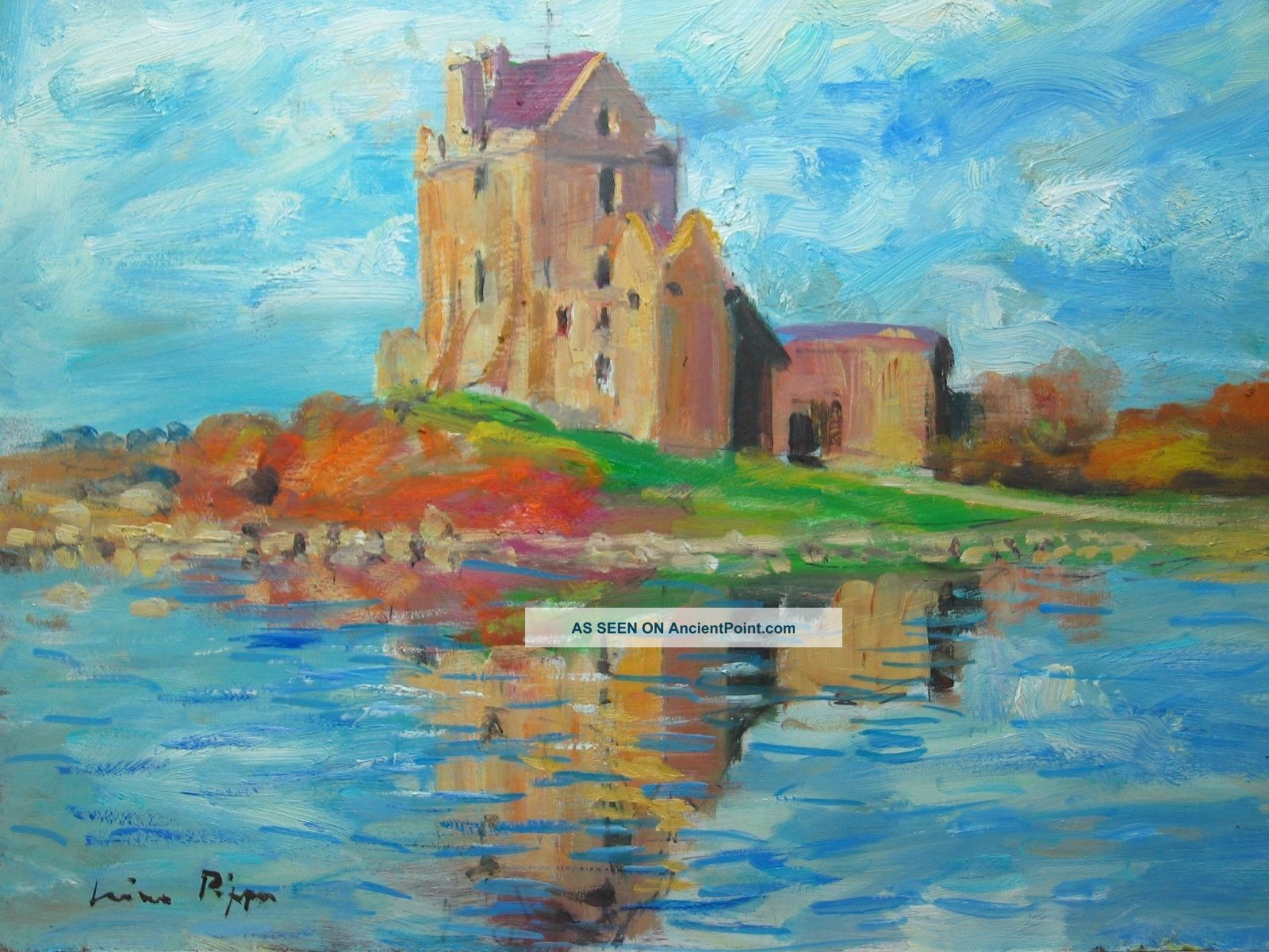 Callaway Castle Art Painting Irish Landscape Listed Artist Homage To Paul Henry Other Maritime Antiques photo