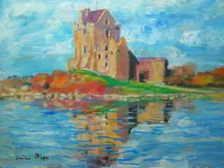 Callaway Castle Art Painting Irish Landscape Listed Artist Homage To Paul Henry photo