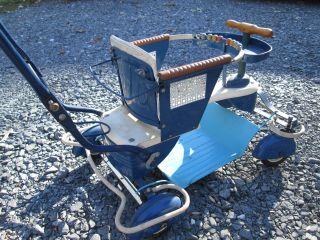 1940s - 50s Taylor Tot Stroller Walker Rare Adjustable Seat Complete photo