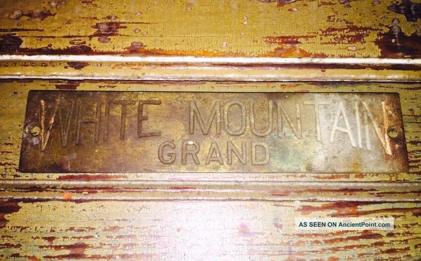 Antique Vtg White Mountain Grand Oak Ice Box Cabinet Brass 5.  5