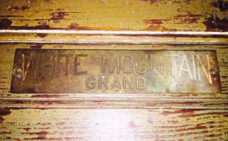 Antique Vtg White Mountain Grand Oak Ice Box Cabinet Brass 5.  5
