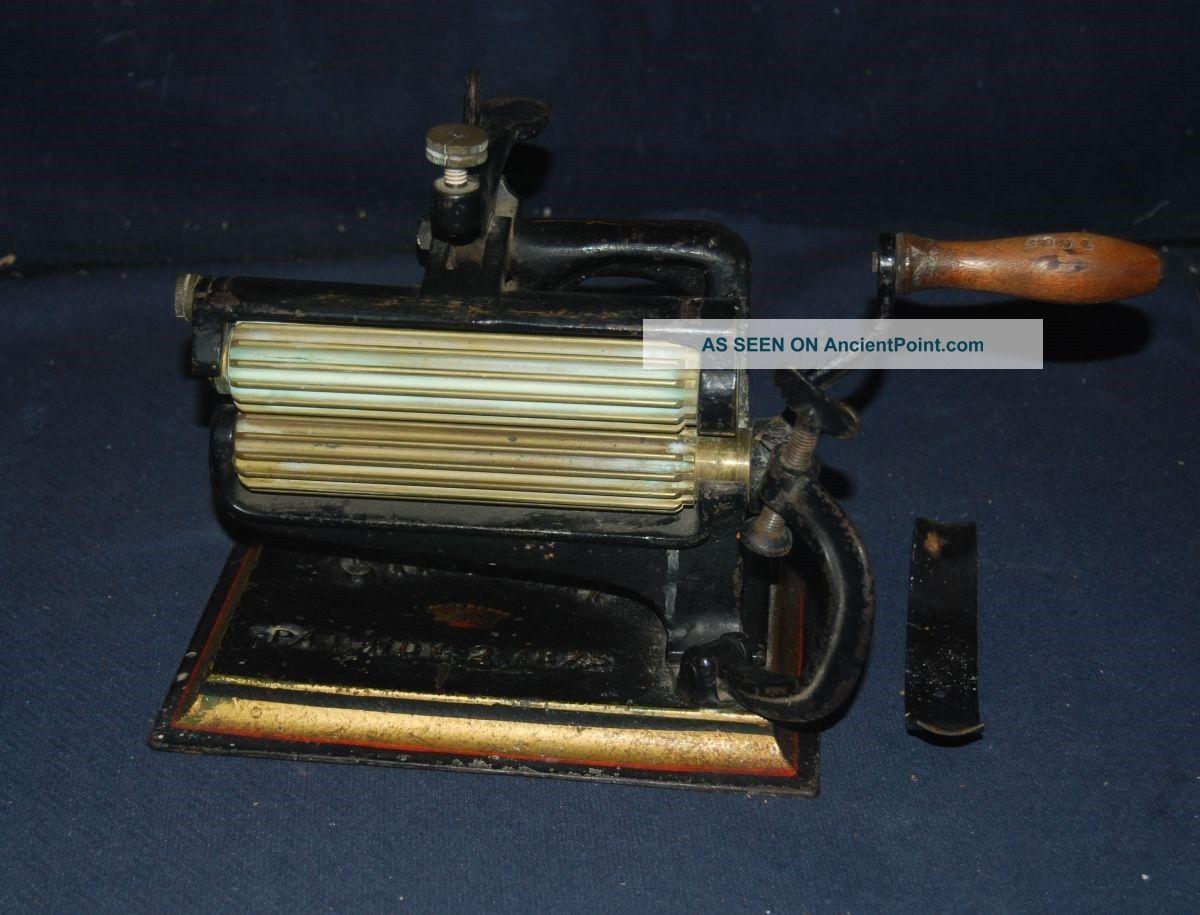 Antique Fluting Cast Iron Crown Crimper,  Fluter,  Ruffler American Machine Co. Other Antique Sewing photo