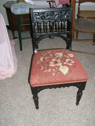 Antique Ebonized Aesthetic Chair 1880 photo
