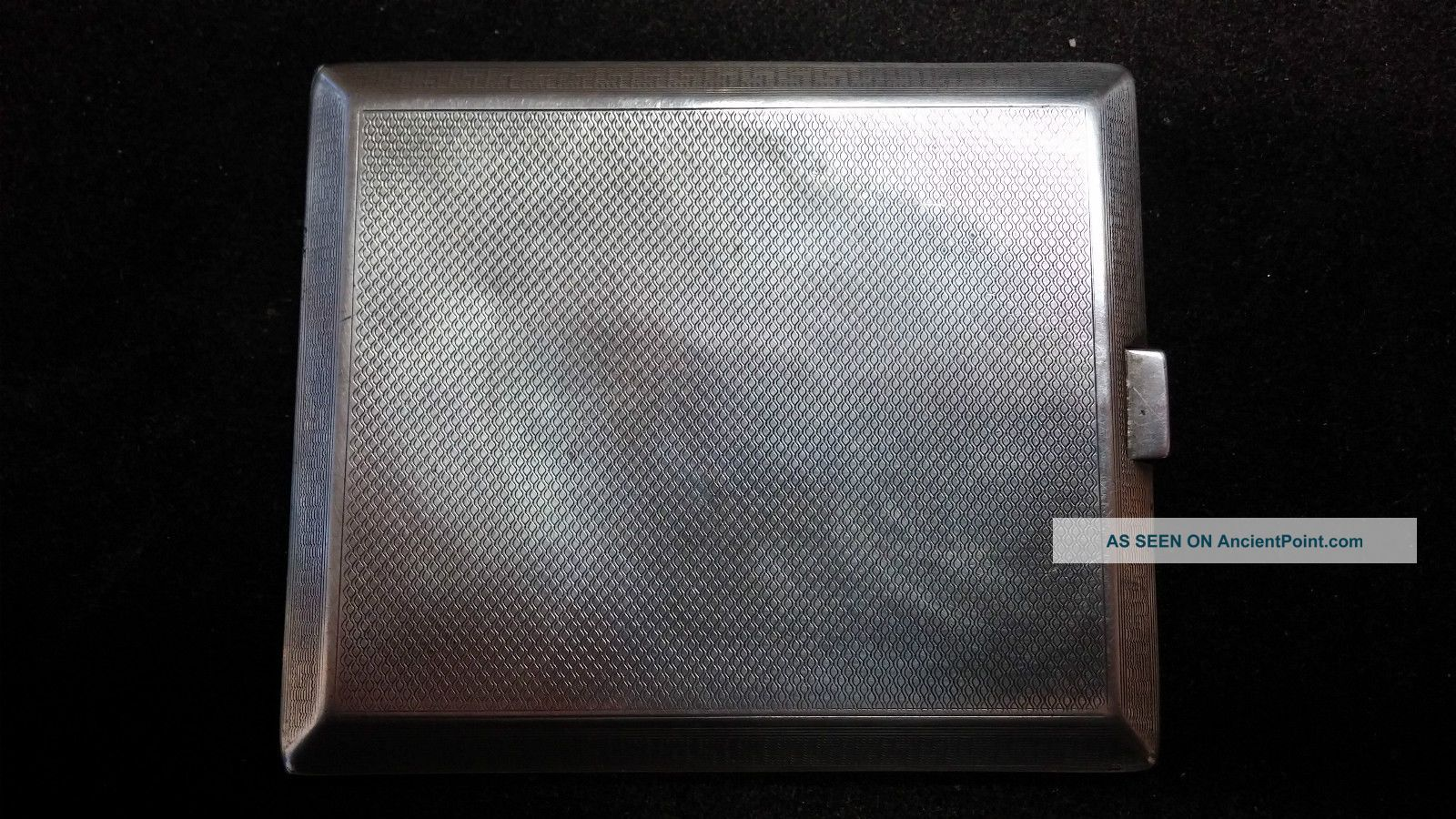 Antique Solid Silver Calling Card Case Hallmarked Birm.  1920/21 140 Grams Card Cases photo