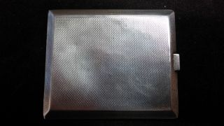 Antique Solid Silver Calling Card Case Hallmarked Birm.  1920/21 140 Grams photo