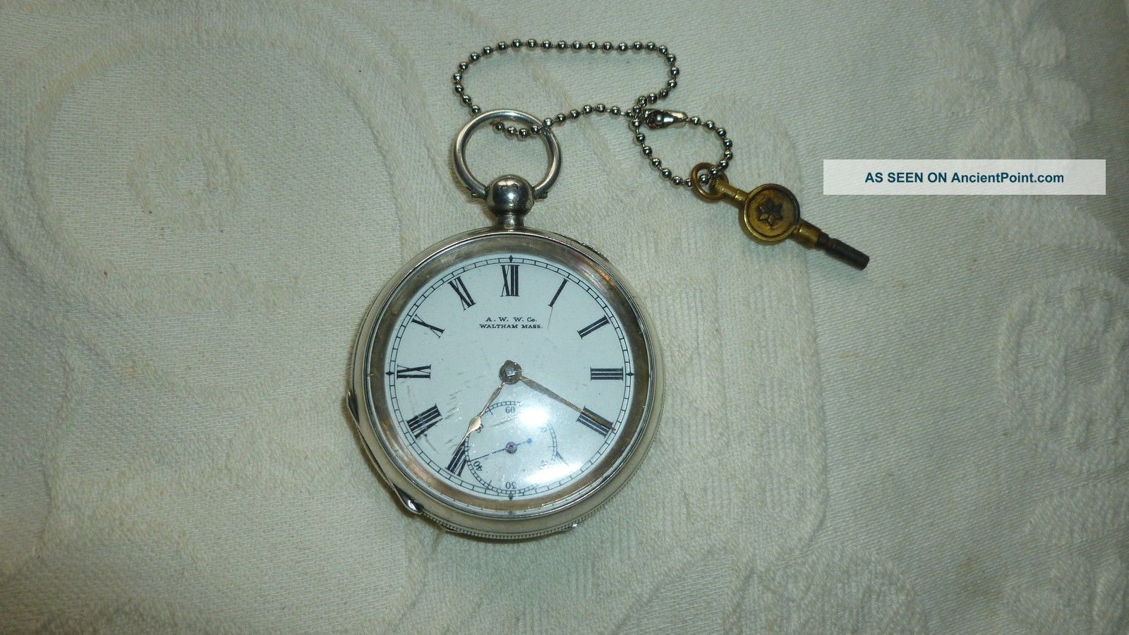 Antique Solid Silver Pocket Watch Pocket Watches/ Chains/ Fobs photo