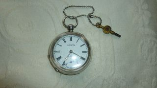 Antique Solid Silver Pocket Watch photo