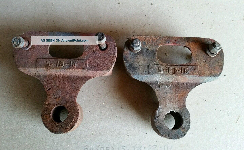 Lineberry Cart Brackets, Vtg Iron Industrial Factory Wheel