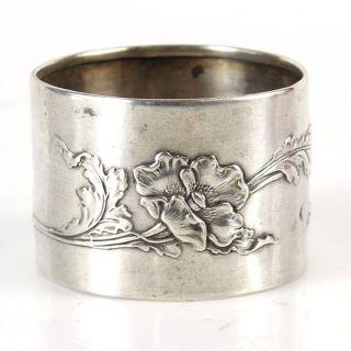 Art Nouveau Silver Napkin Ring France Circa 1900 photo