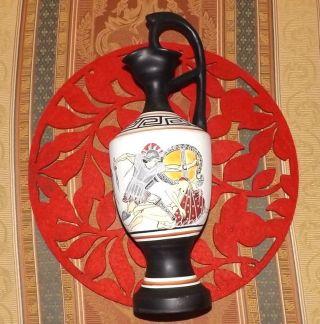 Vintage Antique Style Anna Tingaki - Kos Greece Hand Painted Jug/pitcher Ewer photo