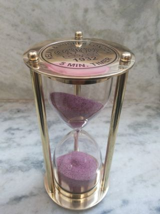 Antique Brass Nautical Maritime Hourglass Sand Timer 6 Inch Home Decors photo