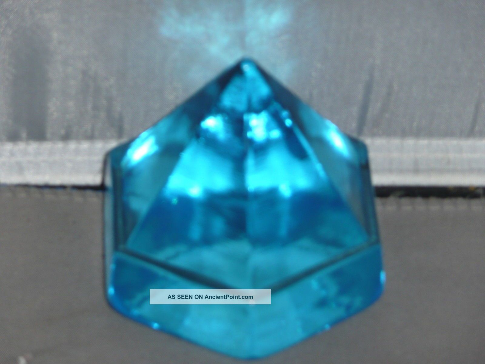 Ship ' S Deck Prism Small Light Blue Prism Other Maritime Antiques photo