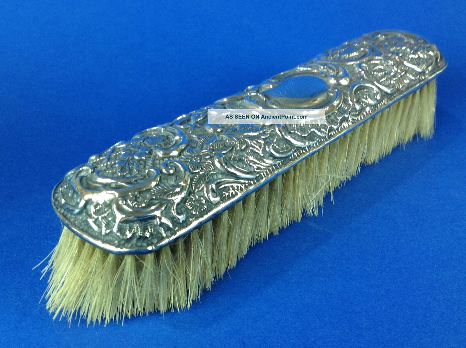 Antique English Victorian Sterling Silver Vanity Clothes Brush Art Noveau Brushes & Grooming Sets photo