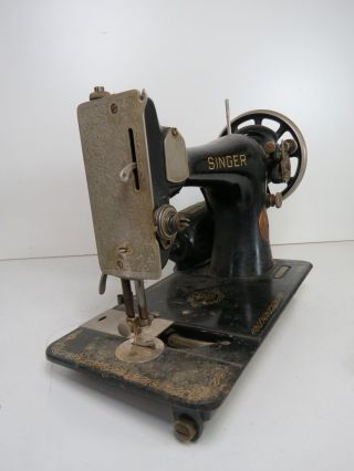 Vintage Collectible Singer Sewing Machine No.  Af317981 W/ Pedal - photo